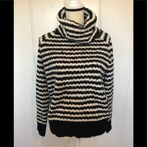A.N.A. Black and white cowl neck sweater
